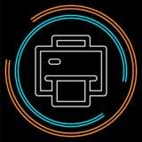 Icône d'imprimante - symbole d'impression - papier d'impression illustration de vecteur
