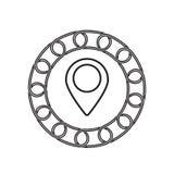 Icône d'indicateur avec le concept de blockchain Future technologie illustration stock