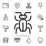 Icône d'insecte ensemble universel d'icônes de Web pour le Web et le mobile illustration stock