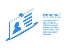 Icône d'insigne Calibre isométrique pour le web design dans le style 3D plat Illustration de vecteur image libre de droits