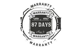 icône d'insigne de timbre de conception d'illustration de garantie de 87 jours illustration stock
