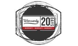 icône d'insigne de timbre de conception d'illustration de garantie de 20 jours illustration stock