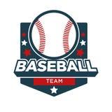 Icône d'insigne de vecteur d'équipe de sport de base-ball Photos libres de droits