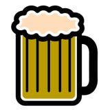 Icône d'isolement de bière illustration de vecteur