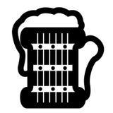 Icône d'isolement de bière illustration stock