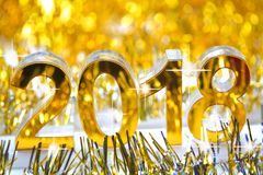 Icône 2018 3d numérique d'or Images libres de droits