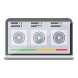 Icône d'ordinateur portable de diagnostics Photo libre de droits