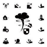 icône d'ouragan à la maison Ensemble détaillé d'icônes d'assurance Signe de la meilleure qualité de conception graphique de quali Image stock