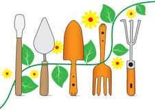 Icône d'outils de jardin de dessin de main illustration de vecteur