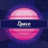 Icône d'univers de l'espace de planète illustration de vecteur