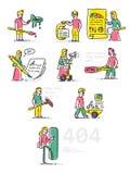 Icône dans le style de la bande dessinée Objet d'isolement sur le backgr blanc Photos libres de droits