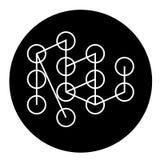 Icône de étude profonde de concept de vecteur de noir de concept Illustration plate de étude profonde de concept, signe illustration de vecteur