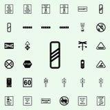 icône de approche de signe de passage à niveau Ensemble universel d'icônes ferroviaires d'avertissements pour le Web et le mobile illustration libre de droits