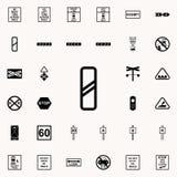 icône de approche de signe de passage à niveau Ensemble universel d'icônes ferroviaires d'avertissements pour le Web et le mobile illustration de vecteur