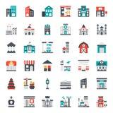 icône de bâtiment Image libre de droits