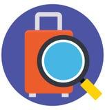 Icône de balayage de vecteur d'isolement par couleur de bagage de base de RVB qui peut être facilement modifiée ou éditée illustration de vecteur
