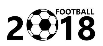 Icône de ballon de football du football sur le fond blanc Photographie stock