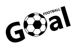 Icône de ballon de football du football sur le fond blanc Images libres de droits