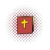Icône de bandes dessinées de bible illustration de vecteur