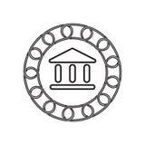 Icône de banque avec le concept de blockchain Future technologie illustration de vecteur