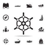 """icône de bateau \ """"de roue de s Ensemble détaillé d'icônes de bateau Conception graphique de la meilleure qualité Une des icônes  illustration libre de droits"""