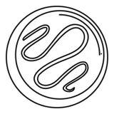 Icône de biscuit de Choco, style d'ensemble illustration de vecteur