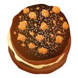 Icône de biscuit d'écrou de Choco, style de bande dessinée illustration de vecteur