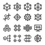 icône de blockchain illustration de vecteur