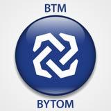 Icône de blockchain de cryptocurrency de pièce de monnaie de Bytom Argent virtuel électronique, d'Internet ou symbole de cryptoco illustration libre de droits