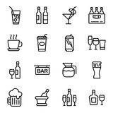 Icône de boissons et de boissons Photos libres de droits