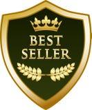 Icône de bouclier d'or du best-seller illustration stock