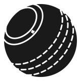 Icône de boule de cricket, style simple illustration libre de droits