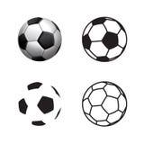 Icône de boule du football, style plat, 3D style, ligne style simple illustration stock