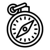Icône de boussole de main, style d'ensemble illustration stock