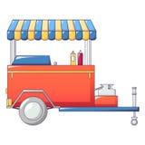 Icône de boutique de hot-dog, style de bande dessinée Illustration Stock