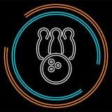 Icône de bowling boule de bowling de vecteur - jeu de bowling, icône de sport illustration libre de droits