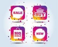 Icône de bulle de la parole de vente Achetez le symbole de chariot illustration de vecteur