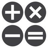Icône de calculatrice, symbole de mathématiques Vecteur illustration stock