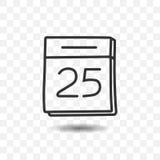 Icône de calendrier avec l'ombre Image stock