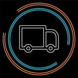 Icône de camion de livraison d'isolement illustration stock