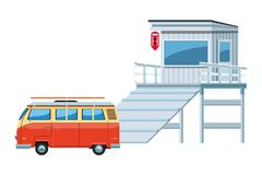 Icône de camping-car illustration libre de droits