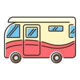 Icône de camping-car, style plat illustration libre de droits