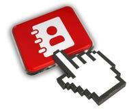 Icône de carnet d'adresses Photographie stock libre de droits