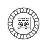Icône de carte d'affichage avec le concept de blockchain Future technologie illustration stock