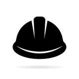 Icône de casque antichoc de constructeur illustration stock