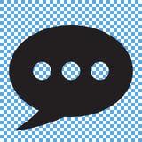 Icône de causerie, icône de commentaires Images stock