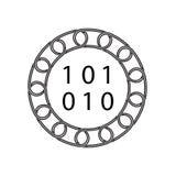 Icône de cellules d'ordinateur avec le concept de blockchain Future technologie illustration de vecteur