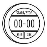 Icône de chronomètre de Digital, style d'ensemble Illustration de Vecteur