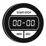 Icône de chronomètre de Digital, style simple Illustration Libre de Droits