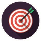 Icône de cible dans la conception plate Images stock